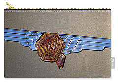 Carry-all Pouch featuring the photograph 1937 Chrysler Airflow Emblem by Gordon Dean II
