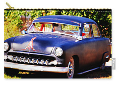 Carry-all Pouch featuring the photograph 1950 Ford  Vintage by Peggy Franz
