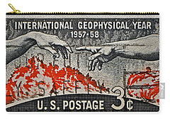1957-1958 International Geophysical Year Stamp Carry-all Pouch