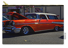 Carry-all Pouch featuring the photograph 1957 Belair Wagon by Tikvah's Hope