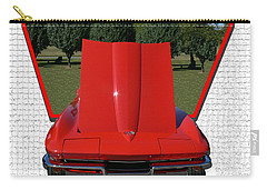 Carry-all Pouch featuring the photograph 1965 Corvette by EricaMaxine  Price