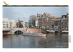 Carry-all Pouch featuring the digital art City Scenes From Amsterdam by Carol Ailles