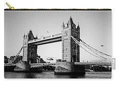 Helicopter At Tower Bridge Carry-all Pouch by Dawn OConnor