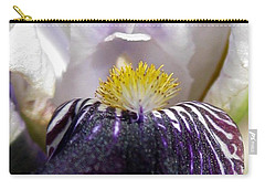 Miniature Tall Bearded Iris Named Consummation Carry-all Pouch by J McCombie