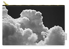 Black And White Sky With Building Storm Clouds Fine Art Print Carry-all Pouch