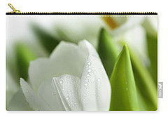 White Tulips Carry-all Pouch by Nailia Schwarz