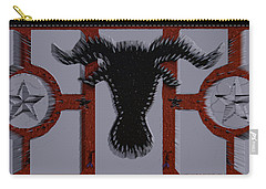 3d Cow In Spikes Carry-all Pouch