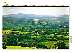 Carry-all Pouch featuring the photograph 50 Shades Of Green by Charlie and Norma Brock