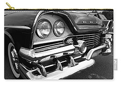 58 Plymouth Fury Black And White Carry-all Pouch