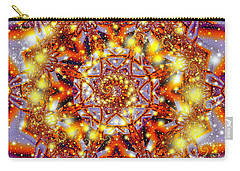 Carry-all Pouch featuring the digital art A Blaze Of Glory by Mario Carini