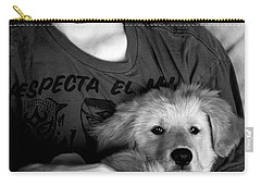 A Boy And His Dog Carry-all Pouch by Lorraine Devon Wilke