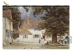 A Cart By A Village Inn Carry-all Pouch by Helen Allingham