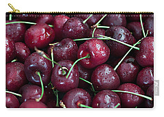 Carry-all Pouch featuring the photograph A Cherry Bunch by Sherry Hallemeier