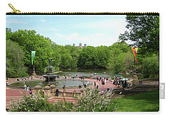 A Day At The Park Fountain Carry-all Pouch