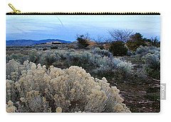 A Desert View After Sunset Carry-all Pouch by Kathleen Grace