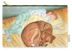 A Dog And Her Boy Carry-all Pouch