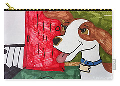 A Dog Is Heading Out The Door. Carry-all Pouch