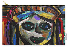 Carry-all Pouch featuring the painting A Face Of Freedom by Mary Carol Williams