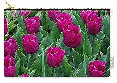 Carry-all Pouch featuring the digital art A Field Of Tulips Series 2 by Eva Kaufman