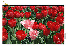 Carry-all Pouch featuring the digital art A Field Of Tulips Series 3 by Eva Kaufman