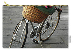 Carry-all Pouch featuring the photograph A Flower Delivery by Vivian Christopher