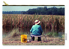 A Great Day Fishing Carry-all Pouch by Patricia Greer