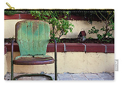 A Green Chair Carry-all Pouch by Lorraine Devon Wilke