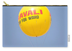 Carry-all Pouch featuring the photograph A Hot Air Balloon In The Blue Sky by Ashish Agarwal
