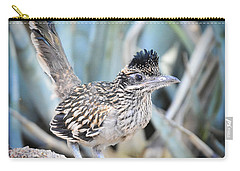 A Juvenile Greater Roadrunner  Carry-all Pouch by Saija  Lehtonen