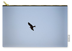 Carry-all Pouch featuring the photograph A Kite Flying High In The Sky by Ashish Agarwal