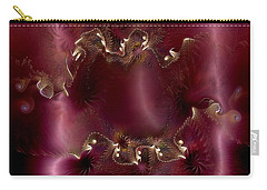 Carry-all Pouch featuring the digital art A Knowing Recognition by Casey Kotas