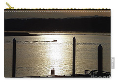 A Lone Boat At Sunset Carry-all Pouch