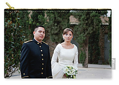 A Military Wedding Carry-all Pouch by Lorraine Devon Wilke