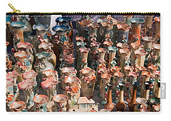 Carry-all Pouch featuring the photograph A Number Of Clay Vases And Figurines At The Surajkund Mela by Ashish Agarwal