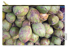 Carry-all Pouch featuring the photograph A Number Of Tender Raw Coconuts In A Pile by Ashish Agarwal