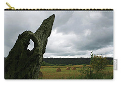 A Ok In A Field Of Hay Carry-all Pouch by Lorraine Devon Wilke