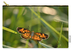 Carry-all Pouch featuring the photograph A Pearl In The Grass by JD Grimes