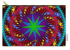 Carry-all Pouch featuring the digital art A Riot Of Stars by Mario Carini