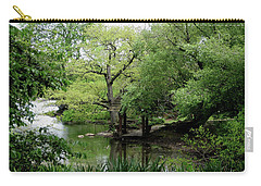 A River Runs Through Central Park  Carry-all Pouch by Lorraine Devon Wilke
