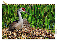 A Sandhill Crane Nesting Carry-all Pouch