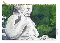 Carry-all Pouch featuring the painting A Statue At The Wellers Carriage House -1 by Yoshiko Mishina