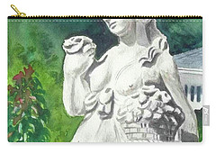 Carry-all Pouch featuring the painting A Statue At The Wellers Carriage House -2 by Yoshiko Mishina
