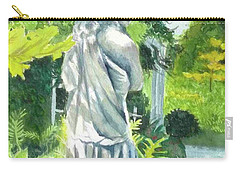 Carry-all Pouch featuring the painting A Statue At The Wellers Carriage House -3 by Yoshiko Mishina