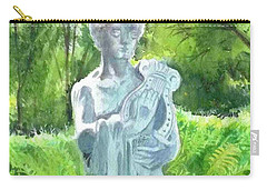 Carry-all Pouch featuring the painting A Statue At The Wellers Carriage House -4 by Yoshiko Mishina