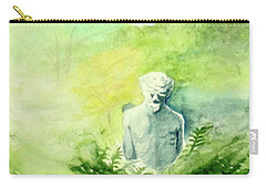 Carry-all Pouch featuring the painting A Statue At The Wellers Carriage House -5 by Yoshiko Mishina