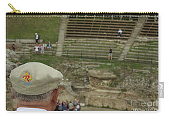 A Tourist And The Ancient Theater Of Taormina Carry-all Pouch