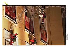 A Wall Of Sneaky Santas Carry-all Pouch by Lorraine Devon Wilke