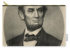 Carry-all Pouch featuring the photograph Abraham Lincoln Portrait by International  Images