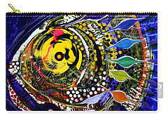 Abstract Busy Bee Fish Carry-all Pouch