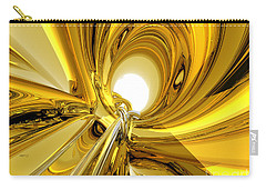 Carry-all Pouch featuring the digital art Abstract Gold Rings by Phil Perkins